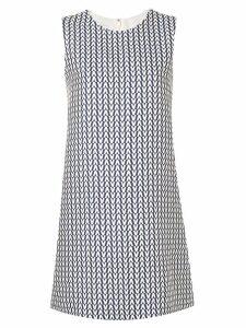 Valentino V print dress - Blue