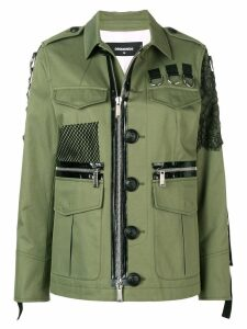 Dsquared2 military shirt jacket - Green