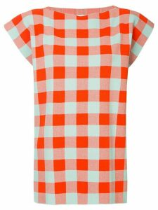 Jil Sander checked boxy blouse - ORANGE