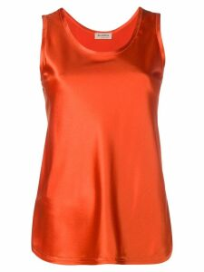 Blanca Vita satin tank top - ORANGE