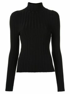 Gloria Coelho high collar knit blouse - Black