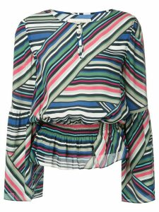 Nicole Miller abstract stripe blouse - Multicolour