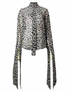 Petar Petrov leopard print blouse - Black