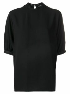 Calvin Klein lace-trimmed blouse - Black