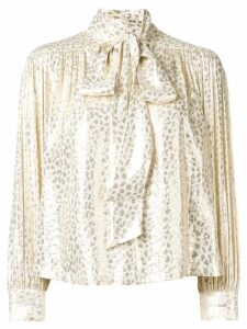 Masscob metallic printed blouse - Gold