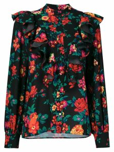 MSGM floral print blouse - Black