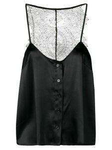 Almaz lace back top - Black