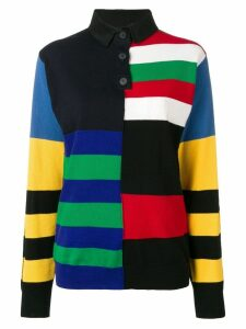 JW Anderson striped rugby knitted top - 850 Cobalt