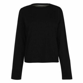 SoulCal Plain Crop Long Sleeve T Shirt Ladies - Black