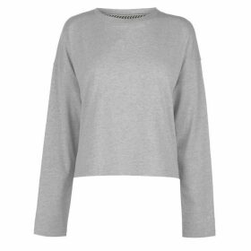 SoulCal Plain Crop Long Sleeve T Shirt Ladies - Grey Marl