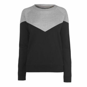 SoulCal Panel Crew Sweatshirt Ladies - Black/Grey Marl
