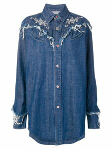 Alanui long-sleeve denim shirt - Blue