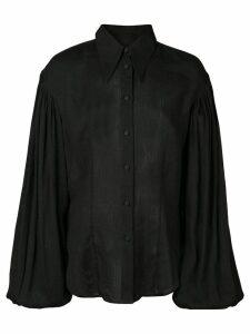 Khaite bishop sleeve shirt - Black