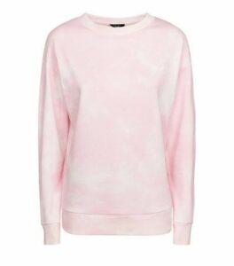 Petite Pink Tie Dye Sweatshirt New Look