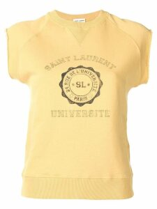 Saint Laurent sleeveless logo top - Yellow
