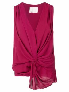 Cinq A Sept Abby knot top - Red