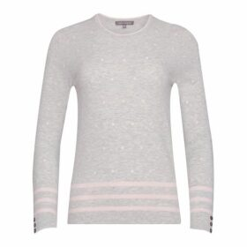 Silver Grey Marl Spot Embroidery Jumper