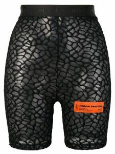 Heron Preston sheer biker shorts - Black