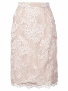 Marchesa lace detail skirt - PINK