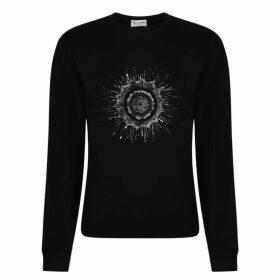 Saint Laurent Round Logo Sweatshirt