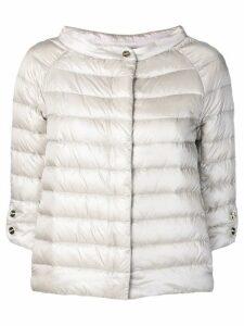 Herno short padded jacket - NEUTRALS