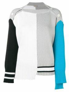MRZ colour block sweater - White