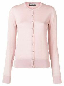 Dolce & Gabbana crystal button front cardigan - Pink