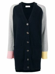 Pringle of Scotland colour block cashmere cardigan - Blue
