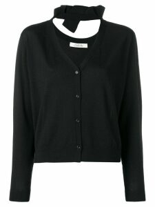 Dorothee Schumacher knit V-neck cardigan with bow detail - Blue