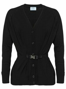 Prada buckle detail cardigan - Black