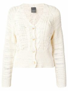Lorena Antoniazzi cable-knit cardigan - Neutrals