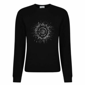 Saint Laurent Round Logo Sweatshirt