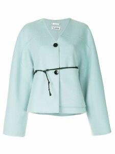 Jil Sander cashmere button cardigan - Blue