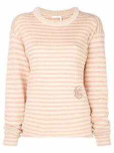 Chloé striped jumper - Pink