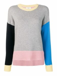 Pringle of Scotland colour block cashmere jumper - Grey
