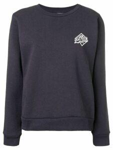 A.P.C. contrast logo sweatshirt - Blue