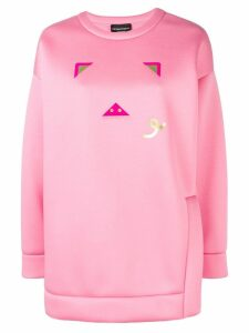 Emporio Armani pig logo print jumper - Pink