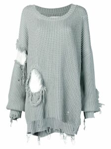 Almaz oversized distressed jumper - Green