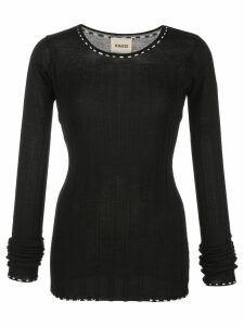 Khaite ribbed fitted sweater - Black
