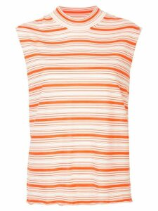 Jil Sander striped knitted top - White