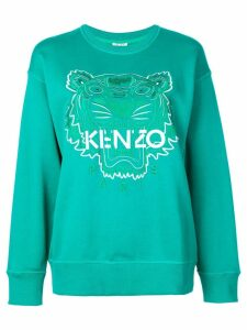 Kenzo Tiger embroidered sweatshirt - Green