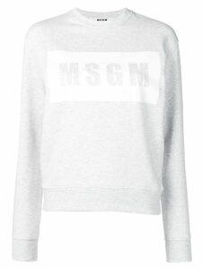 MSGM logo sweatshirt - Grey