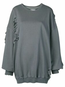 Almaz oversized distressed sweatshirt - Grey