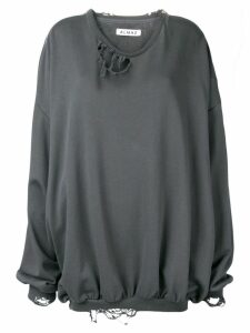 Almaz distressed sweatshirt - Grey