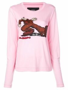 Marc Jacobs stomp print sweater - Pink