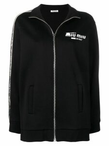 Miu Miu sequinned sweatshirt - Black
