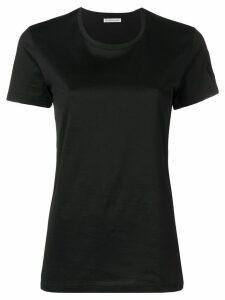 Moncler logo patch T-shirt - Black