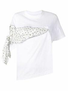 Sacai scarf detail T-shirt - White