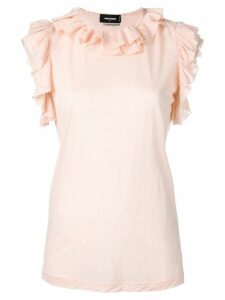 Dsquared2 ruffle trim top - NEUTRALS