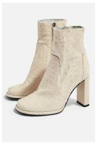 Womens Hattie High Ankle Boots - Natural, Natural